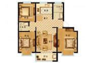 北厂运河小镇户型A3-3室2厅2卫