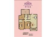 碧水兰庭户型3室2厅2卫108m²