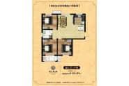 B区3-4户型-3室2厅1卫-119.6㎡