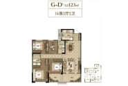 鲁班御园G-D户型4室2厅2卫