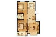 北厂运河小镇户型A1-2室2厅1卫