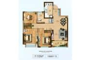 110M²-3室2厅1卫-110.0㎡