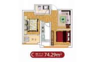 C户型-两室一厅一卫74平