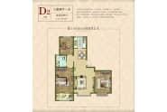 嘉泰紫御国都D2-3室2厅1卫-115.0㎡