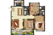 东方紫苑 A1户型,3室2厅2卫,136平米