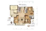 永锋百合新城E1户型-3室2厅2卫