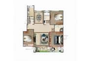 洋房A-121-124㎡三室两厅两卫