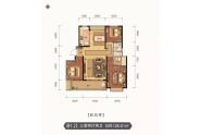金山郡府B1户型三室两厅126.61㎡