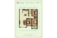 德州紫东苑户型F三室两厅116平