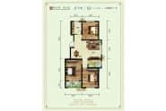 德州紫东苑户型A三室两厅111平