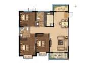平原星空东部新城135.38㎡三室两厅两卫
