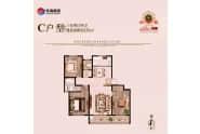 齐河东海玉景园C户型133平三室两厅两卫