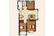 振华领秀城B1户型3室2厅1卫105平