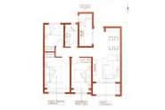 银丰公馆户型3室2厅1卫107平