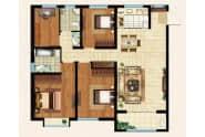 振华领秀城E户型3室2厅2卫140平