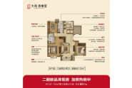 大苑香榭里户型B三室两厅两卫132平