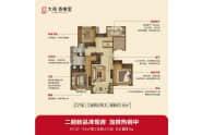 大苑香榭里户型C三室两厅两卫146平