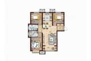 德州华中华园B4户型-3室2厅2卫-114.0㎡