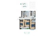 德兴公园里户型 园悦 三室两厅123.4平方米