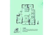 德康德达鑫园户型B三室两厅一卫118平