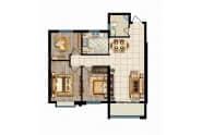 瑞华新都汇户型悦G三室两厅一卫98.70平