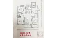 东海国风上院户型约129-131平三室两厅两卫