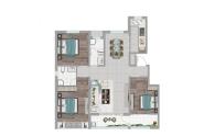 宁津阳光艺境户型127.73三室两厅两卫A6