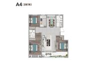 宁津阳光艺境户型121.07三室两厅两卫A4