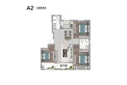 宁津阳光艺境户型123.42三室两厅两卫A2