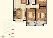 2号楼3号楼5号楼B3户型-3室2厅1卫-122.0㎡