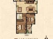 B户型 3室2厅2卫 126平