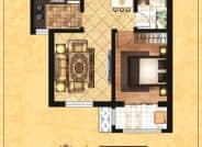 B区1-1户型-1室2厅1卫-59.7㎡