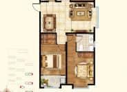 2号3号4号5号楼B2户型-3室2厅2卫-124.0㎡