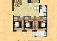 B区3-5户型-3室2厅1卫-115.2㎡