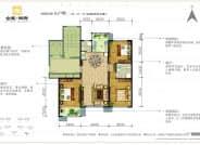 L户型-3室2厅2卫-130.0㎡