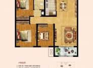 建筑面积约115㎡  三室两厅一卫