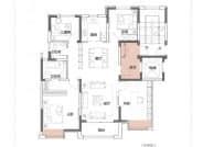 B户型,4室2厅2卫,132平米
