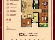 C3户型-3室2厅1卫-110.2㎡