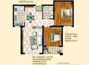 B区M户型-2室2厅1卫-89.0㎡