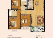 建筑面积约120~125㎡  三室两厅两卫