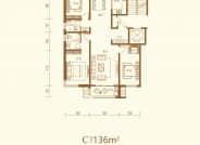 C户型 三室两厅两卫