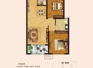 建筑面积约95㎡  两室两厅一卫