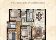 高层户型-3室2厅2卫-128.0㎡