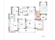 A户型,4室2厅2卫,138平米