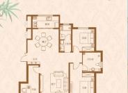 昇龙院 A户型,3室2厅2卫,132平