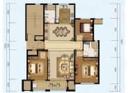 125㎡户型, 3室2厅2卫1厨, 建筑面积约125.00平米