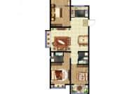 东方紫苑 C1户型,3室2厅2卫,111平米
