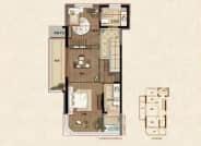 鲁班御园 G-A户型,4室2厅3卫,138平