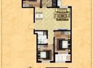 B区3-7户型-3室2厅1卫-99.5㎡