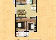 B区3-6户型-3室2厅1卫-105.1㎡